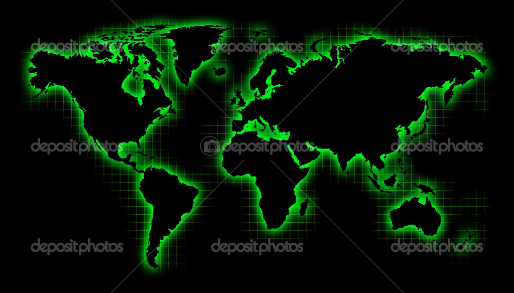Black world map with green glow and grid fotos de stock black world map with green glow and grid foto de rchvision gumiabroncs Images