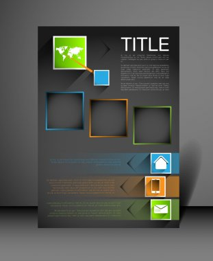 modern poster design template