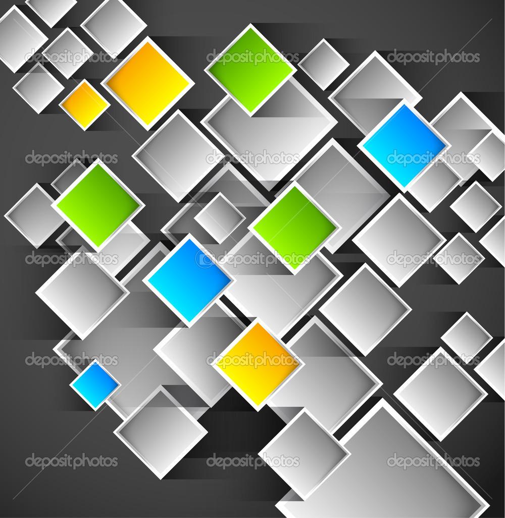 Quadrate Vorlage abstrakt — Stockvektor © RChvision #41795153