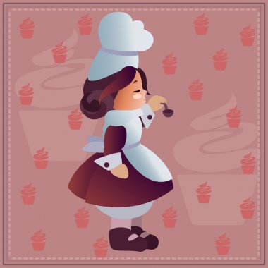 Cute cartoon  chef  - Vector file EPS8