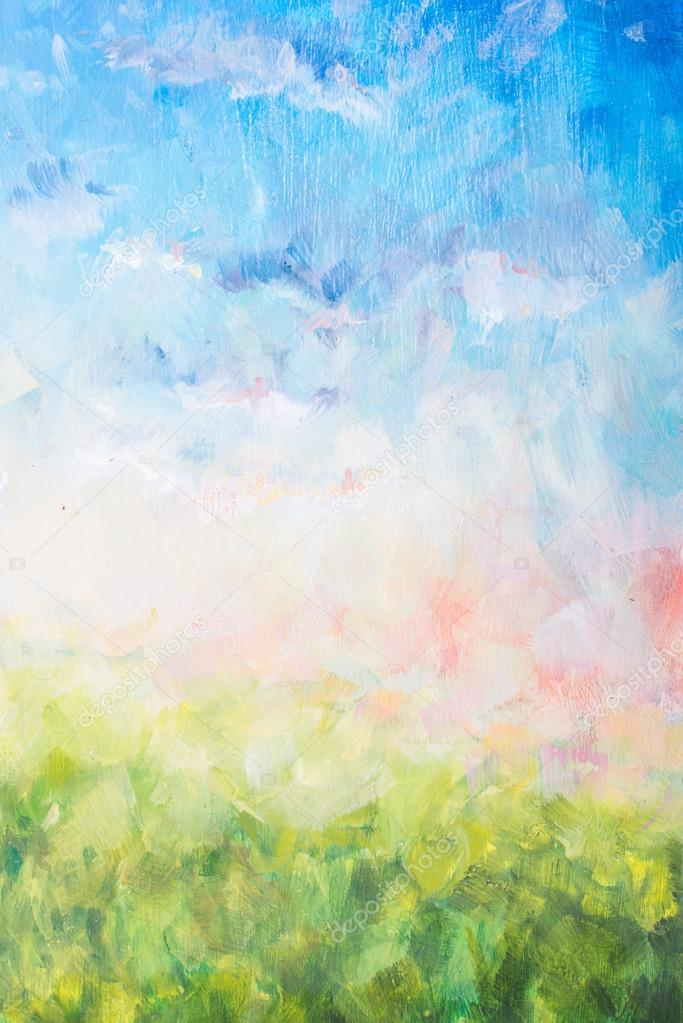 Background, texture - part of oil painting, brush stroke, nature