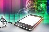 3D grafika s ikonou moderní člověk na chytrý telefon