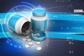 Láhev léky a prášky