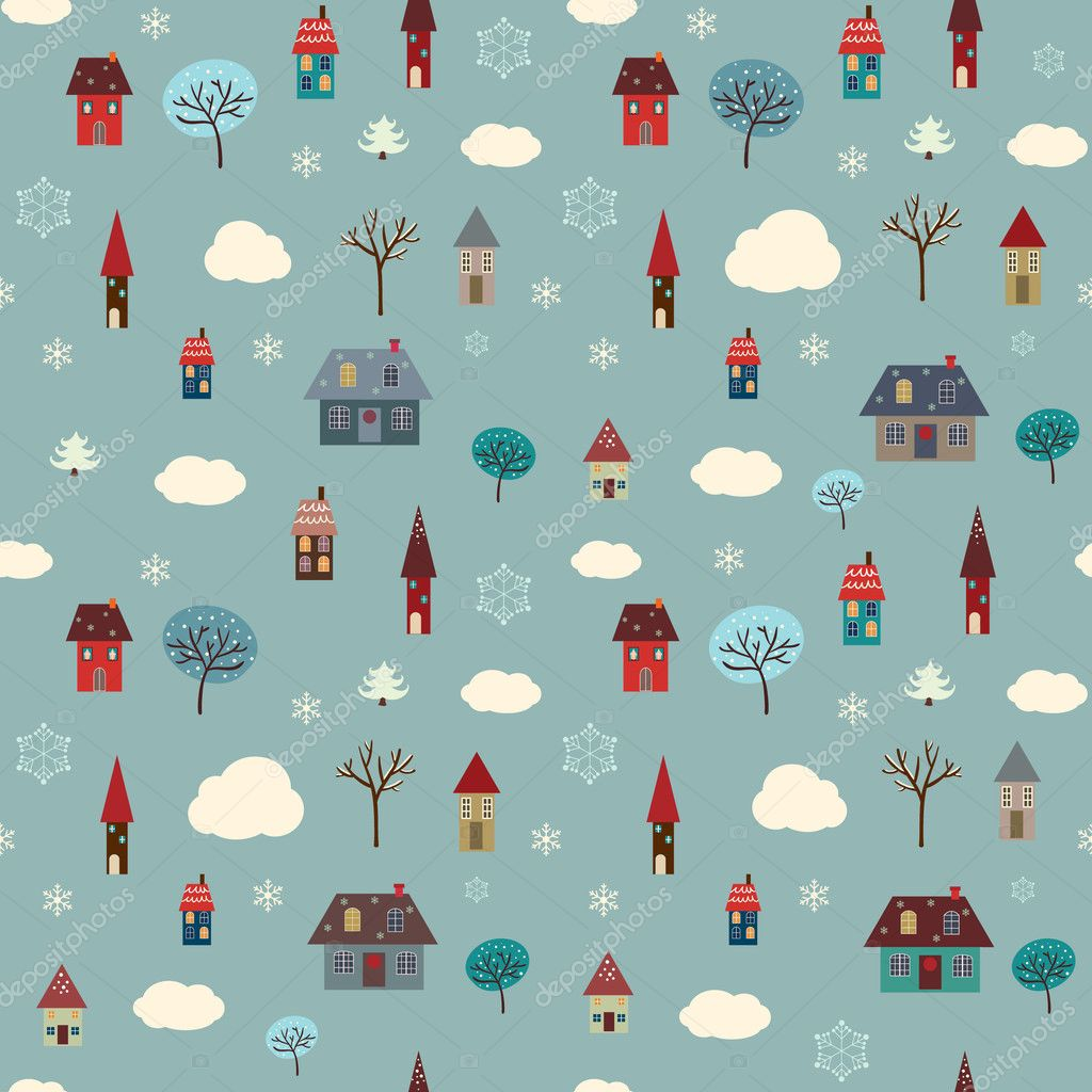 Winter Houses Pattern
