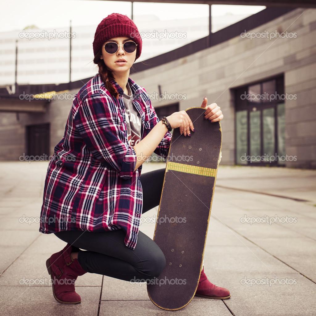 Hipster Frau