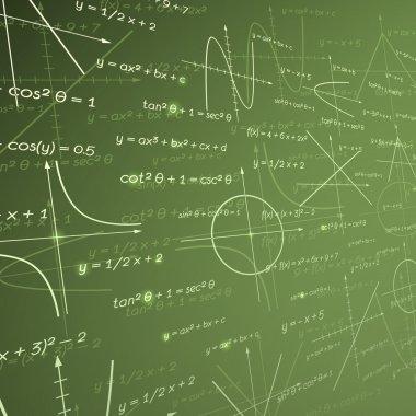 Mathematics chalk board background