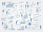 Fotografie Doodle obchodní řízení infografiky prvky