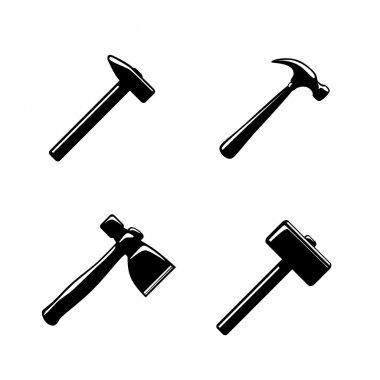 Hammer icons set
