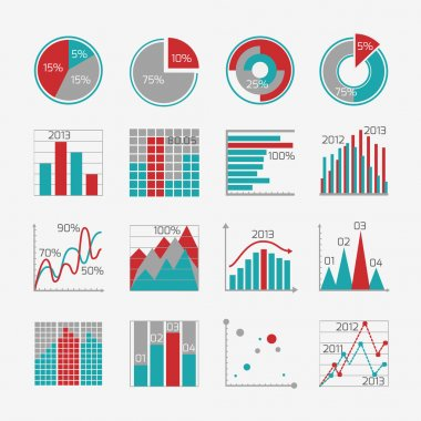 Infographic elements for business report