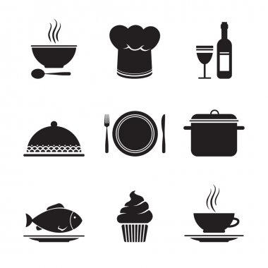 Collection of restaurant design elements