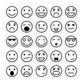 Smiley tváře prvky pro web design