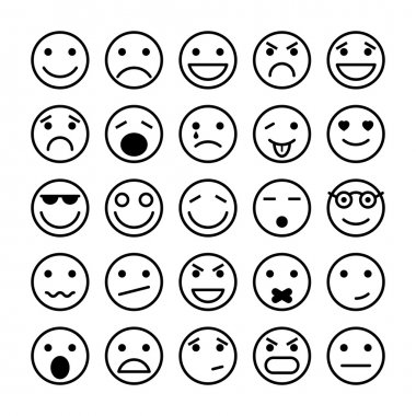 Smiley faces elements for website design