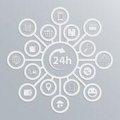 Fényképek online áruház 24 órán keresztül ügyfél szolgáltatás diagram