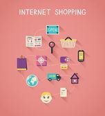 Fényképek Internet marketing és az online vásárlás infographics