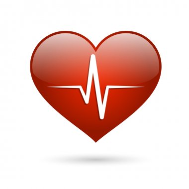 Heart beat rate icon, healthcare and medical concept vector illustration stock vector