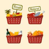 Fotografie nákupní košík s potraviny