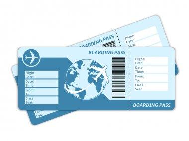 Blank plane tickets