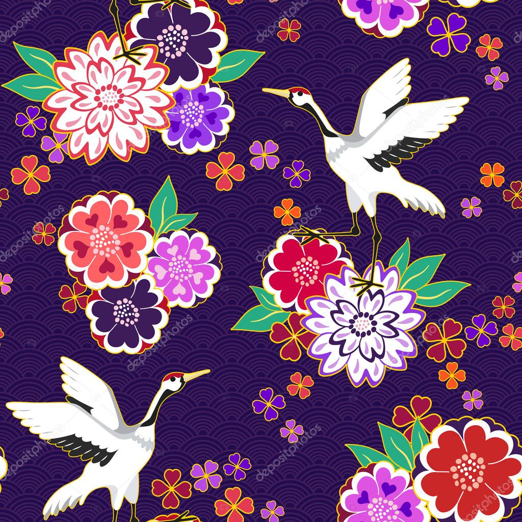 Decorative kimono pattern