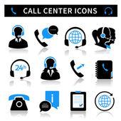 Fényképek Call center szolgáltatás ikonok beállítása