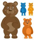 Sada dekorativních medvídků ikony
