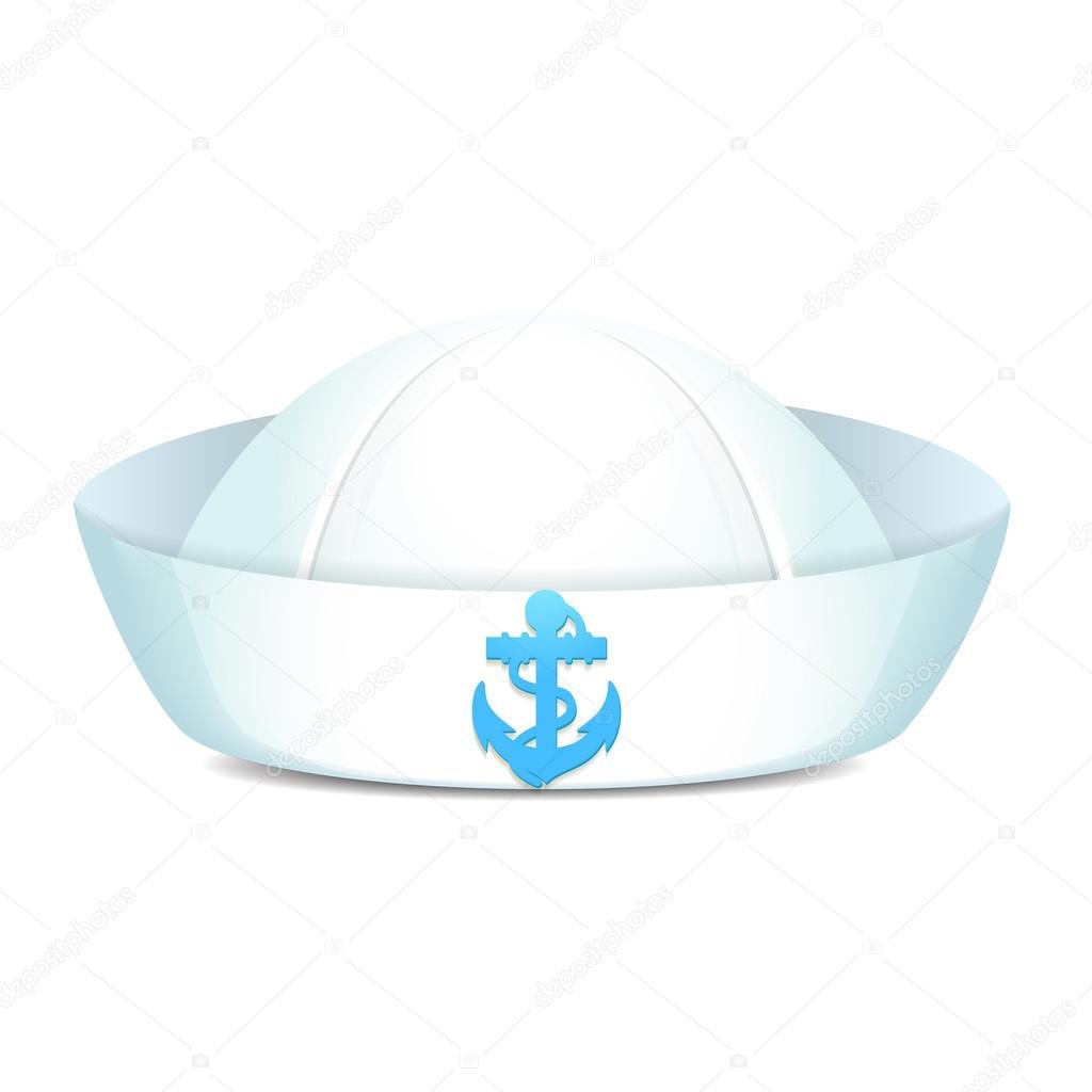 8048394f28721 sombrero de marinero al límite con el ancla azul — Vector de stock ...