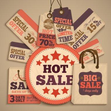 Cardboard sale design concept