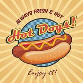 americký hotdogy plakát šablona