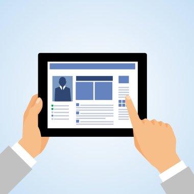Hand tablet pc social