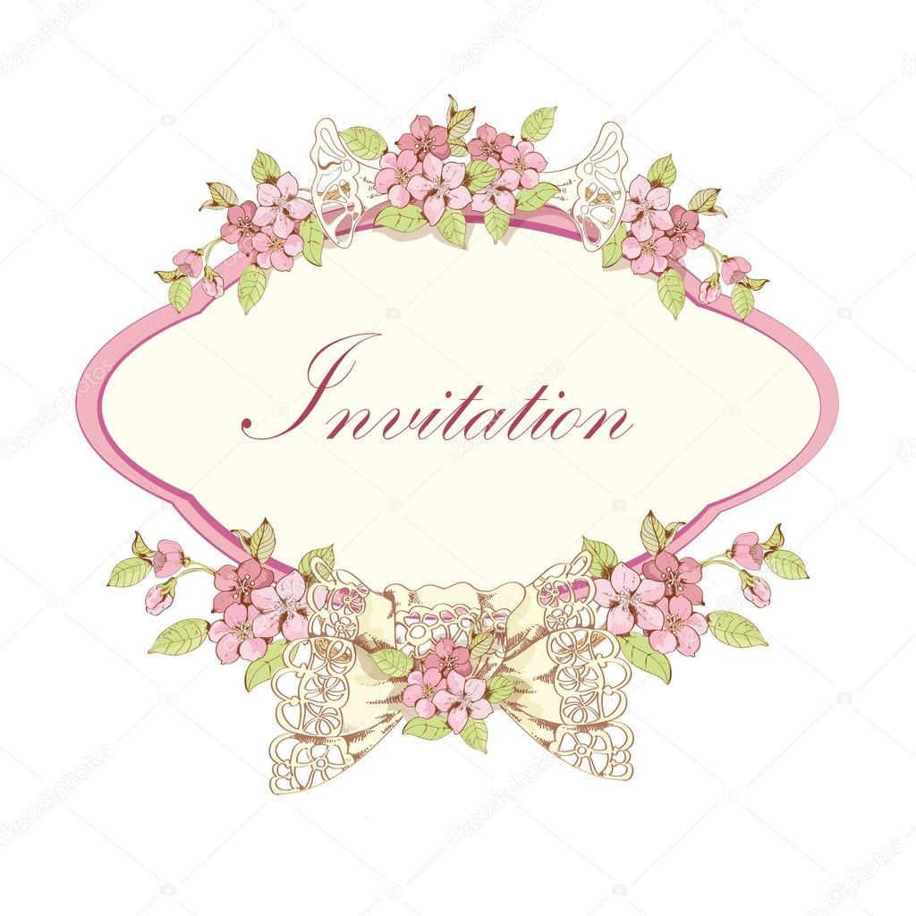 Blooming cherry invitation