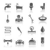 Fotografie Sanitär-Geräte-Piktogramm-set