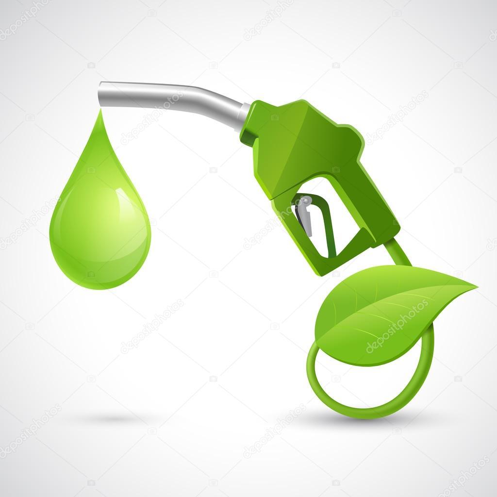 Bio fuel logo concept