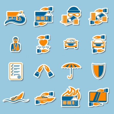 Insurance security stickers collection