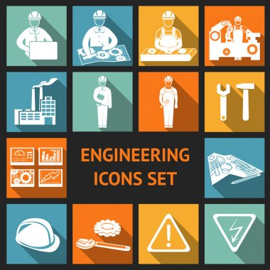Flat Engineering Icons Set
