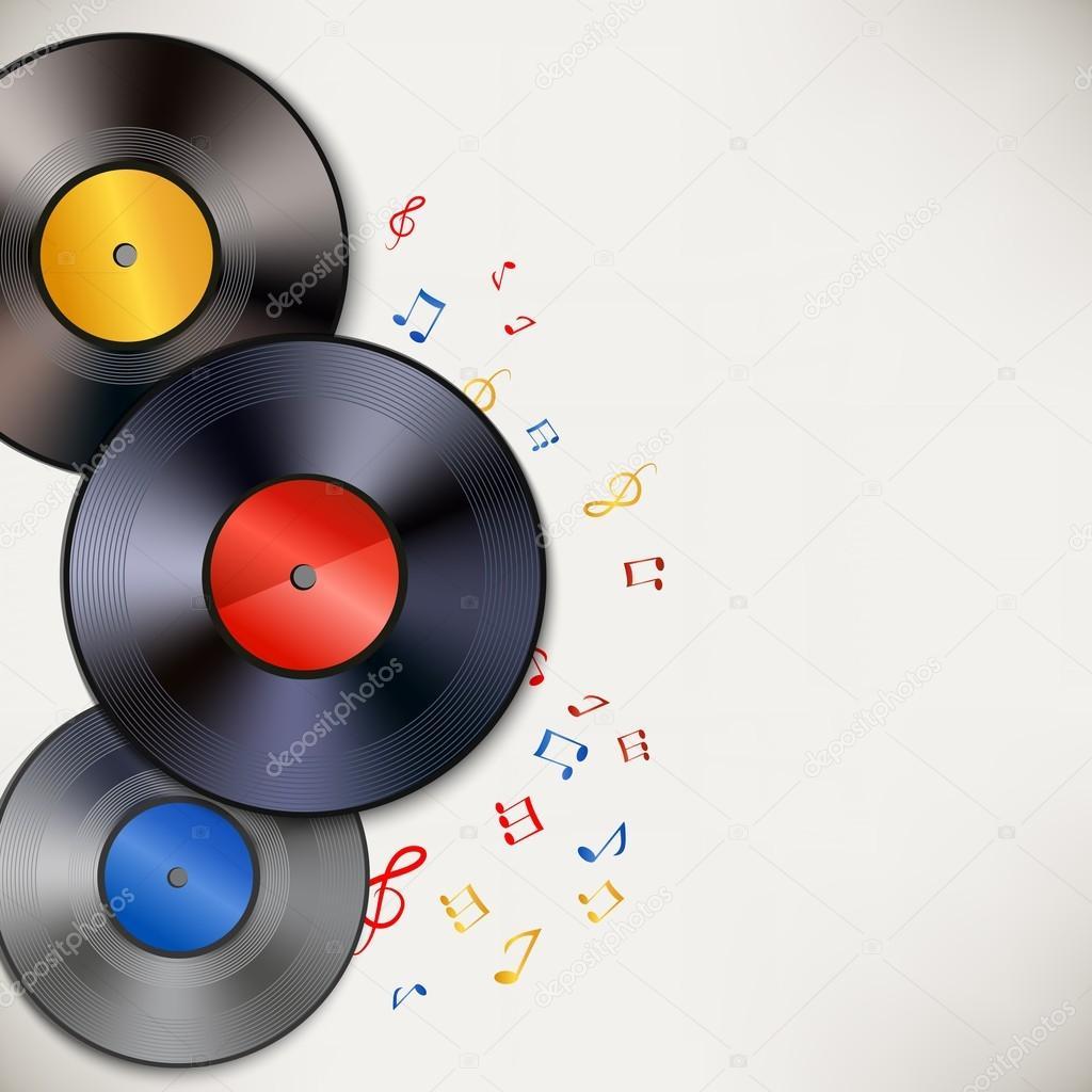 Vinyl Record Background Stock Vector 169 Macrovector 43731593