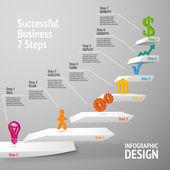 úspěšný business infographic schodiště