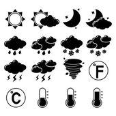 soubor ikony počasí