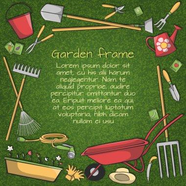 Garden tools frame