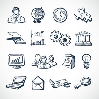 Infographic sketch icons