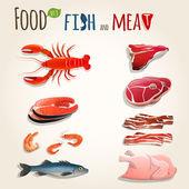 Fényképek hal és hús