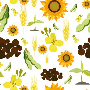 Agriculture seamless pattern