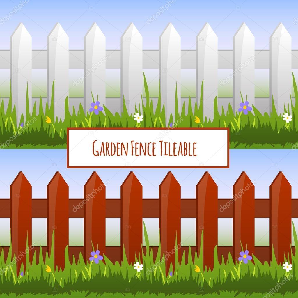 정원 울타리 패턴 — 스톡 벡터 © macrovector #44668601