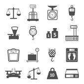 Waage Gewicht Icons set