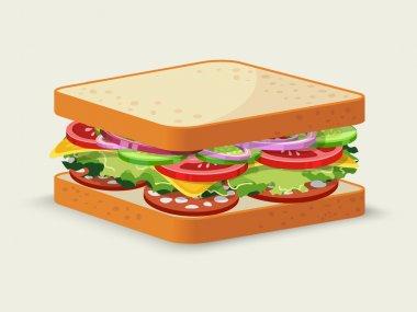 Salami sandwich emblem
