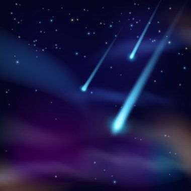 Night sky with comets wallpaper