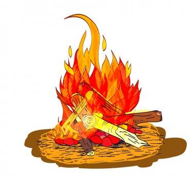 Camp fire sketch