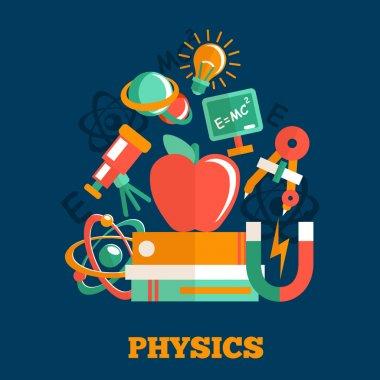 Physics science flat design