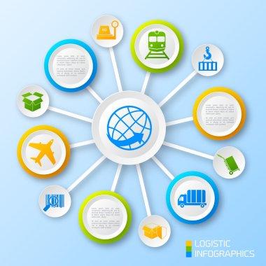 Logistic paper infographics