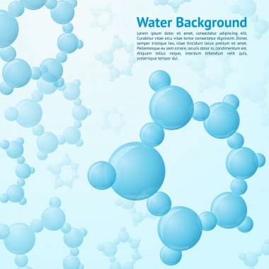 Water molecules background