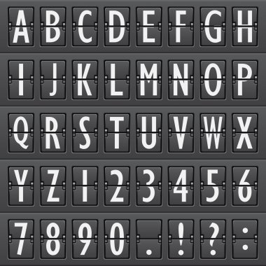Airport board alphabet
