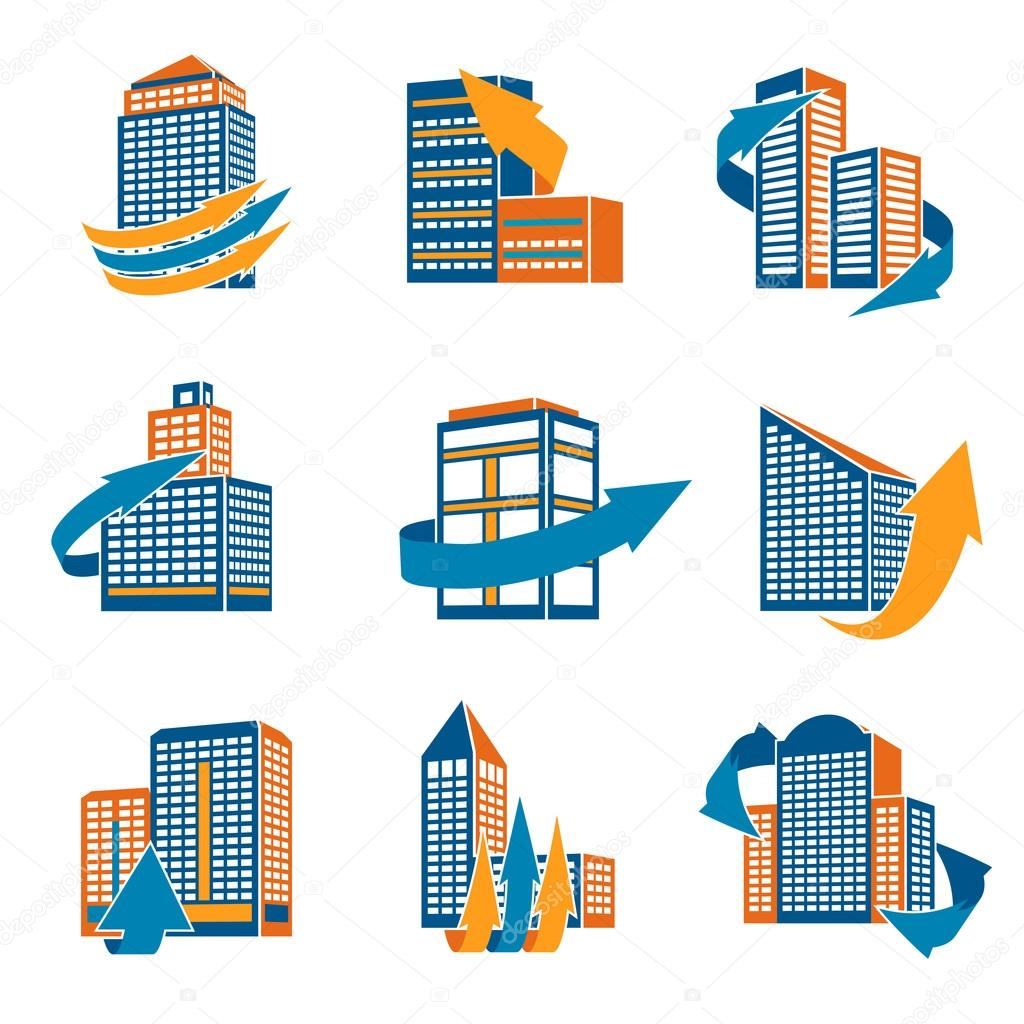 Urban Buildings Icons